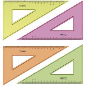 Линейка канцелярская Треугольник 18см #11673