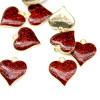 Повеска Бордовое сердце 16х17