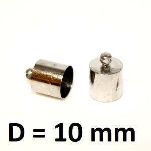 Концевики D=10 Серебро #2192