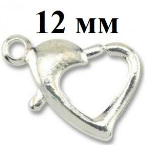 Застежка Лобстер Сердце 12 мм #3740