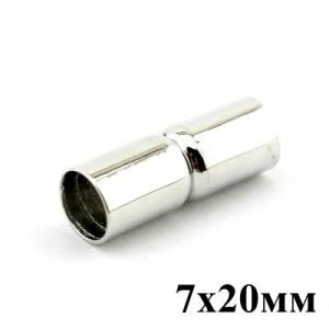 Застежка-концевик Магнитная 7х20 мм (пара) #3770