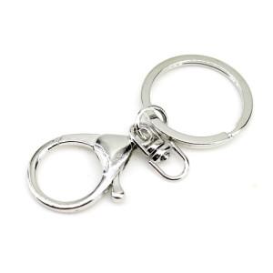 Брелок (кольцо 30мм + Лобстер 35х22мм) Серебро #2546