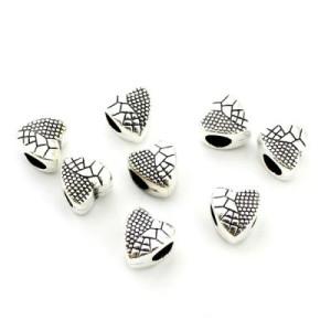 Металлический шарм Сердце 10х9х7 D=5 #3930