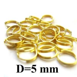 Соед колечки двойные D=5, 1гр (15 шт) Золото #4905