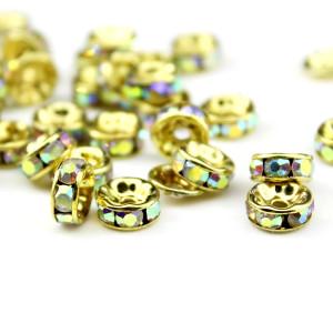 Рондели АВ 8х4 Золотые #6108