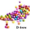 Бусины Узорные D=6, 1гр (8шт) МИКС