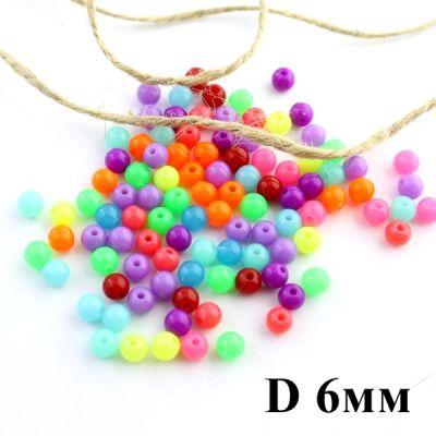 Бусины D=6, 1гр (9шт) МИКС