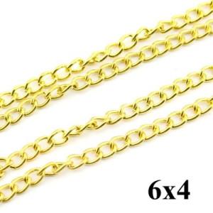 Цепочка 6х4 Золотая #4237