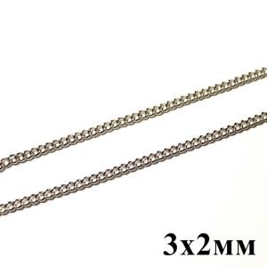 Цепочка 3х2 Серебряная #5796