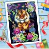 Вышивка лентами Тигр, 25х35 см