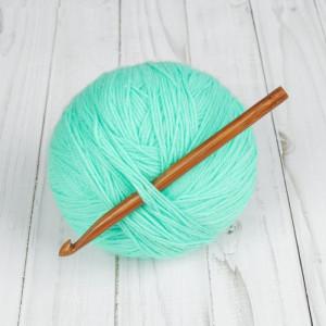 Крючок для вязания, бамбуковый, d=8мм, 15см #11490