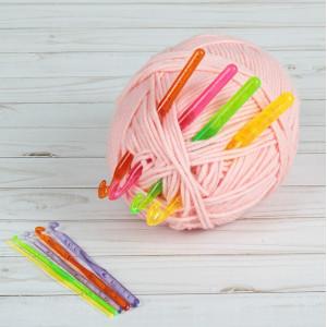 Крючки для вязания d=3.0-12.0 мм, 14см, 9 шт #10907