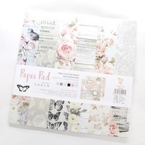 Набор декоративной бумаги 25х25см 24 листа Нежность #10531
