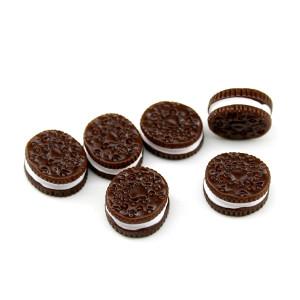 Кабошон печенька OREO Коричневая #5844