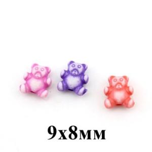 Бусины Мишки 9х8 МИКС 1гр (5шт) #4424