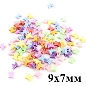 Бусины Бабочки 9х7х3, 1 гр (8шт) МИКС #4426