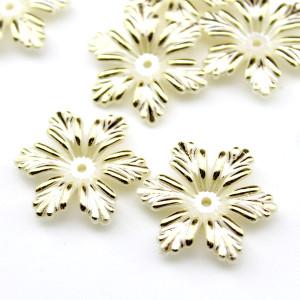 Бусины Цветы с золотинкой 26х5, 1 шт #5930