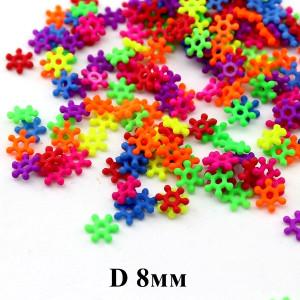 Бусины-разделители D=8х2, 1гр (25шт) МИКС #6129