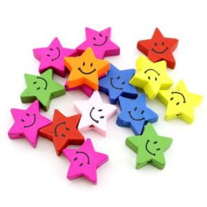 Бусины Улыбающаяся звезда D=20 МИКС #4077