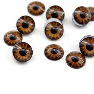 Глаза стеклянные D=12мм Карие #6338