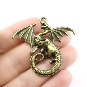 Подвеска дракон 43х46 Бронза #5107