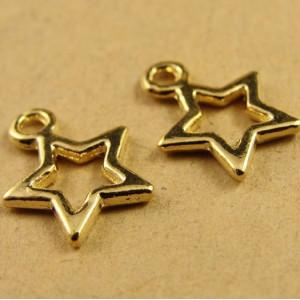 Подвеска звездочка 13х10 Золото #5015