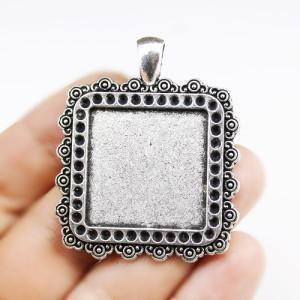 Основа для кулона Квадратная 25х25 Серебро #1703