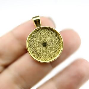 Основа для кулона D=20 Золото #5141