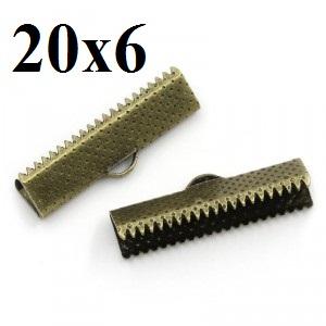 Зажимы для лент 20 мм Бронза #3730