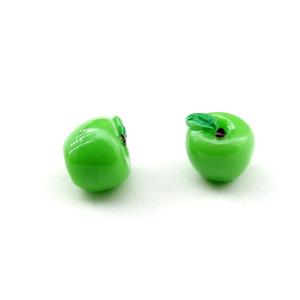 Декоративный элемент зелёное яблоко #5351