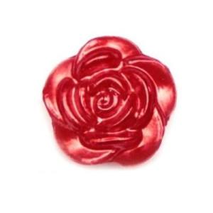 Кабошон Роза красная 12 мм 1 шт #4736