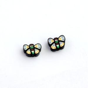Бусины Бабочки черные 1 шт #5556