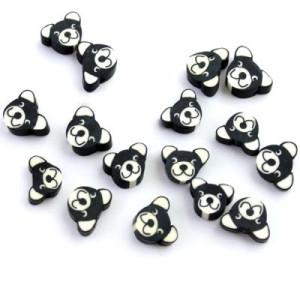 Бусины Собаки Черные #5564