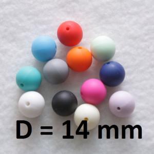 Слингобусины силиконовые D=14мм, 1шт #1158