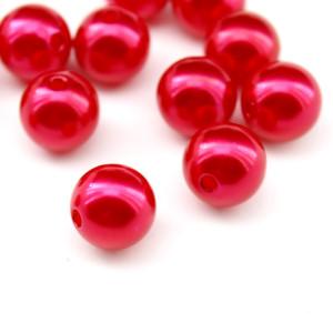 Бусины D=14, 1шт Красные #6030