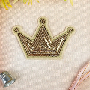 Термоаппликация «Корона», с пайетками, 8,3х5,4 см #11891