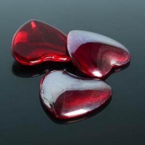 Кабошон стекло, сердце 25*25мм #10063