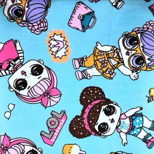 Ткань для пэчворка куклы LOL 40х60см #11967