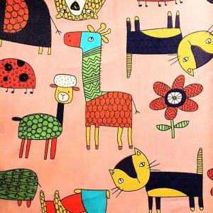 Ткань для пэчворка 40х60см Животные #11987