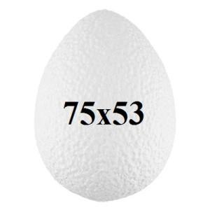 Яйцо из пенопласта 75х53 #5058