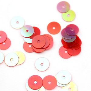 Пайетки круглые красные 10мм, 10гр #11335
