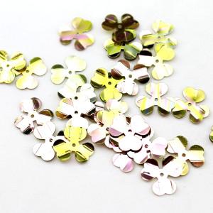Пайетки цветочки 10мм, 10гр #11339