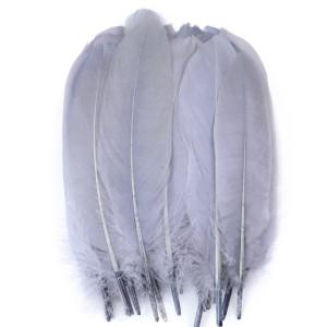 Набор перьев для декора 10 шт 19см Кремовые #12124