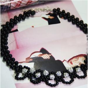Ажурное ожерелье #5956 Черное