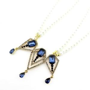 Дизайнерское ожерелье с камнями #5733