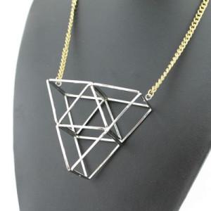 Дизайнерское геометричное ожерелье #5764
