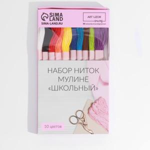 Набор ниток мулине Школьный, 8-9м, 10шт #12202