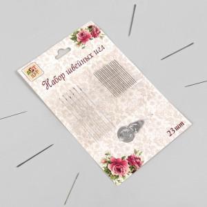 Иглы с нитевдевателем «Ассорти», 23 шт #11393