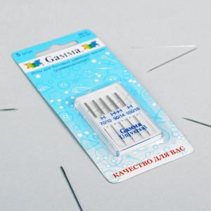 Иглы для бытовых швейных машин, №70/90/100, 5шт #11789