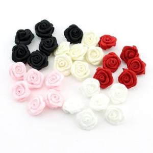Цветы тканевые Роза D=9 #4153